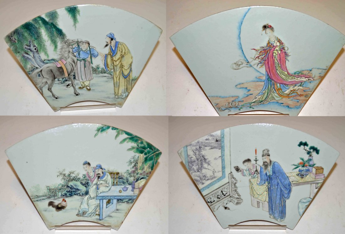 12- pcs 12 Chinese Zodiac Famille Rose Plaques