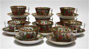 Chinese Rose Medallion cups and saucers