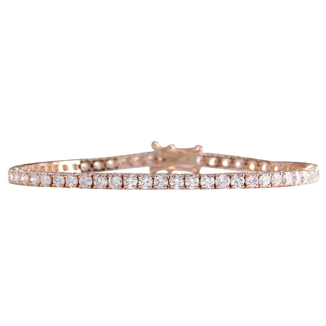5.01CTW Natural Diamond Bracelet In 14K Rose Gold