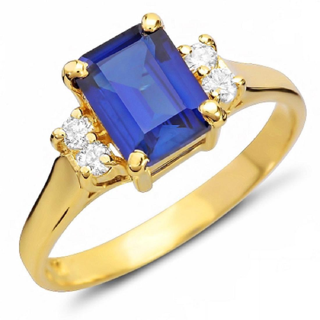 1.65 Carat Natural Sapphire 14K Solid Yellow Gold