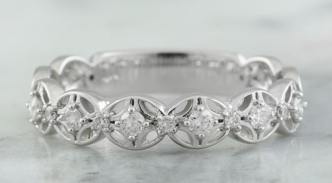 0.25 Carat 14K White Gold Diamond Ring