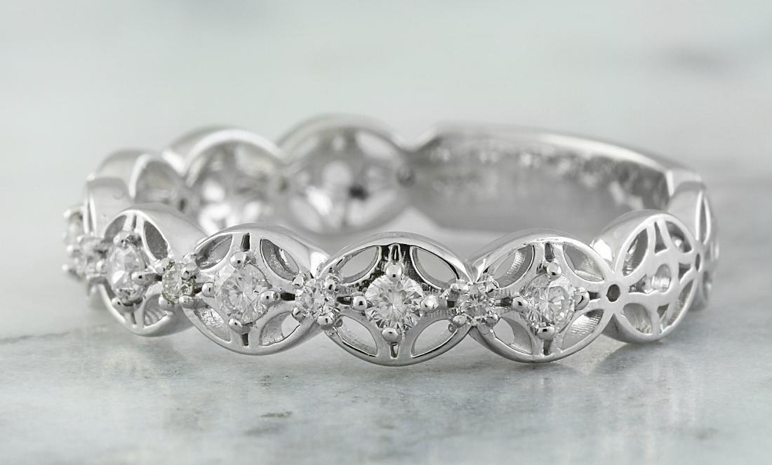 0.25 Carat 14K White Gold Diamond Ring - 2