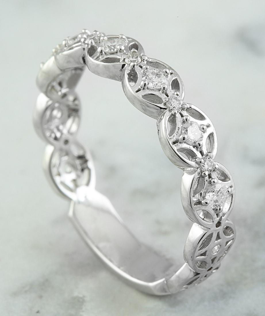 0.25 Carat 14K White Gold Diamond Ring - 4
