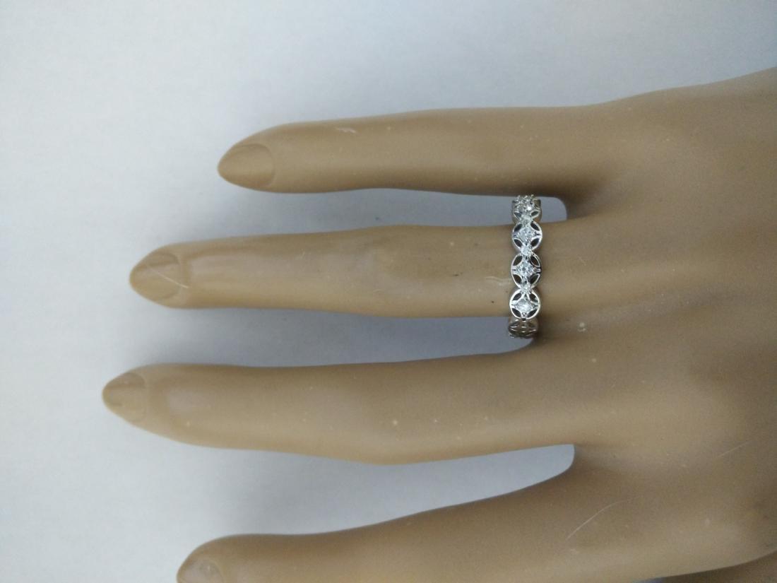 0.25 Carat 14K White Gold Diamond Ring - 5