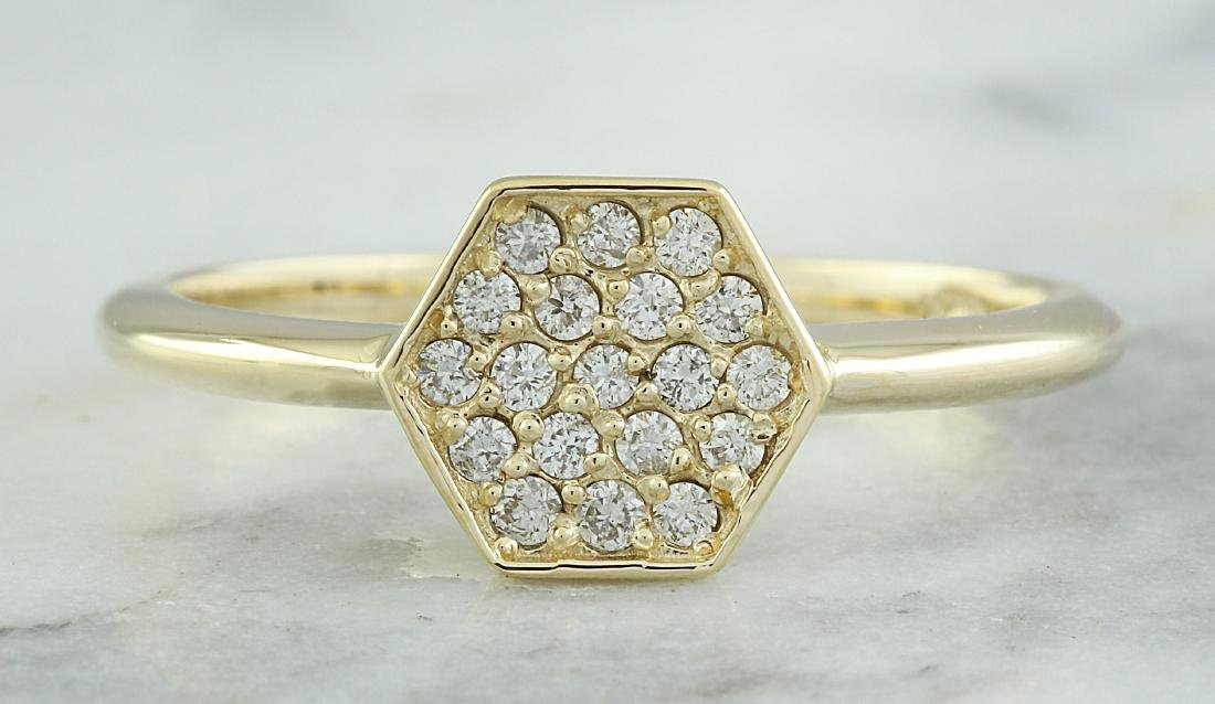 0.22 Carat 14K Yellow Gold Diamond Ring