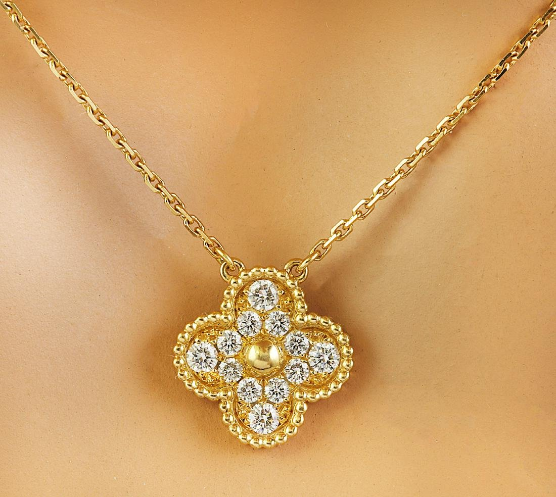 Authentic Van Cleef Alhambra 18K Yellow Gold Diamond