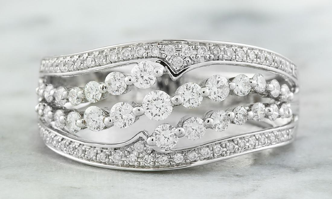 1.00 Carat Diamond 18K White Gold Ring