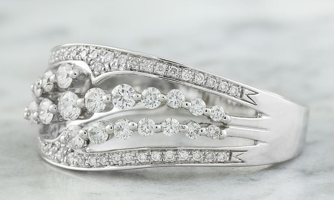 1.00 Carat Diamond 18K White Gold Ring - 2