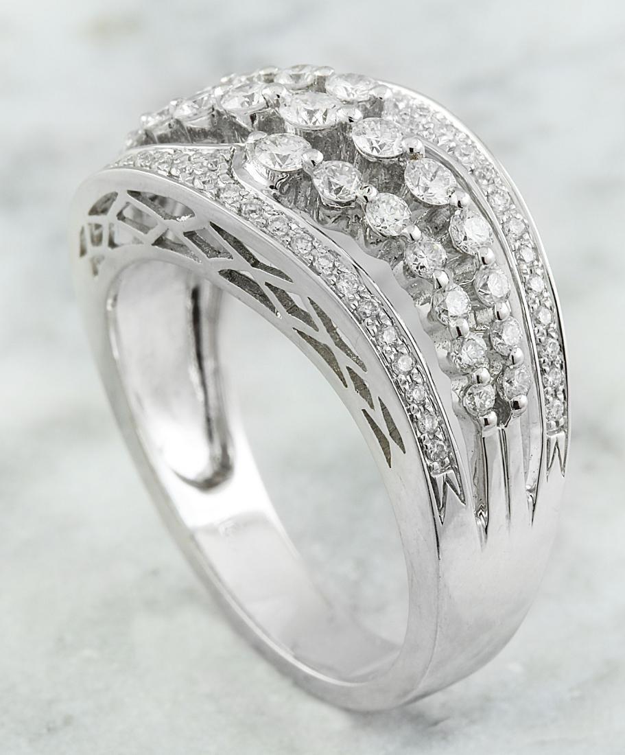 1.00 Carat Diamond 18K White Gold Ring - 3