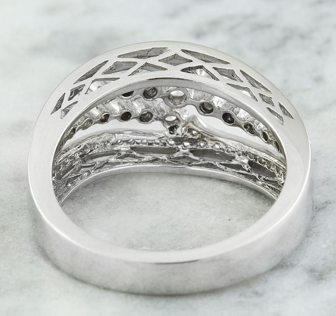 1.00 Carat Diamond 18K White Gold Ring - 4