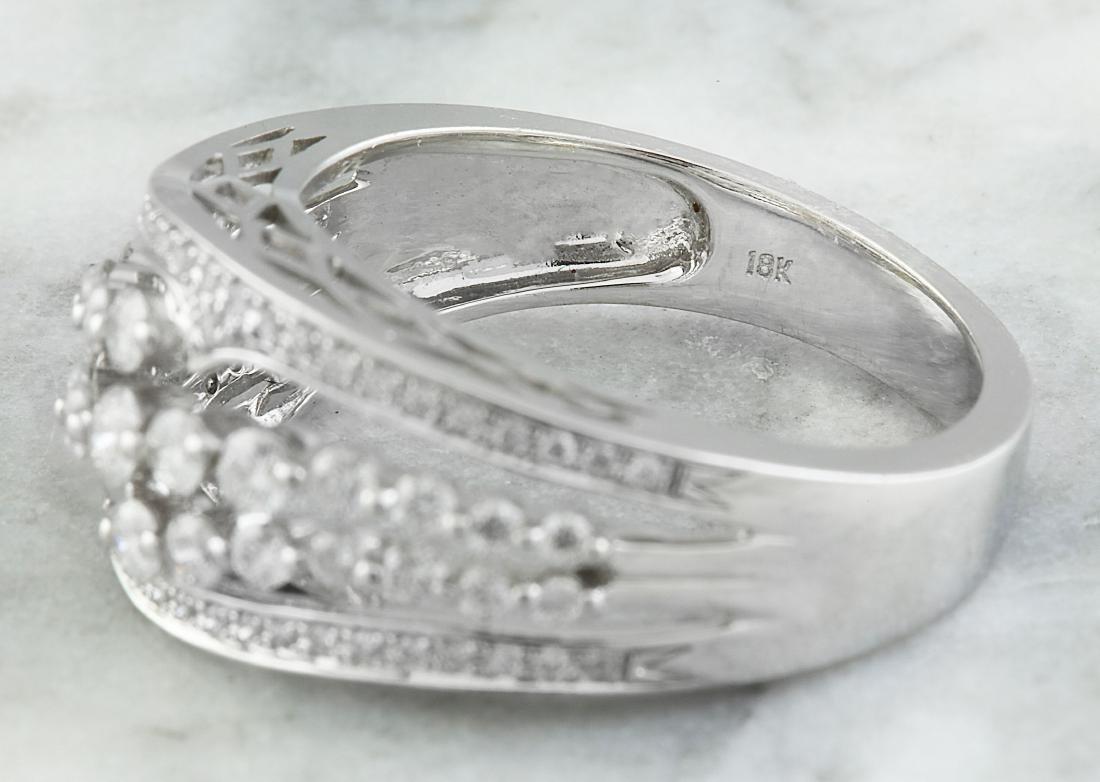 1.00 Carat Diamond 18K White Gold Ring - 6