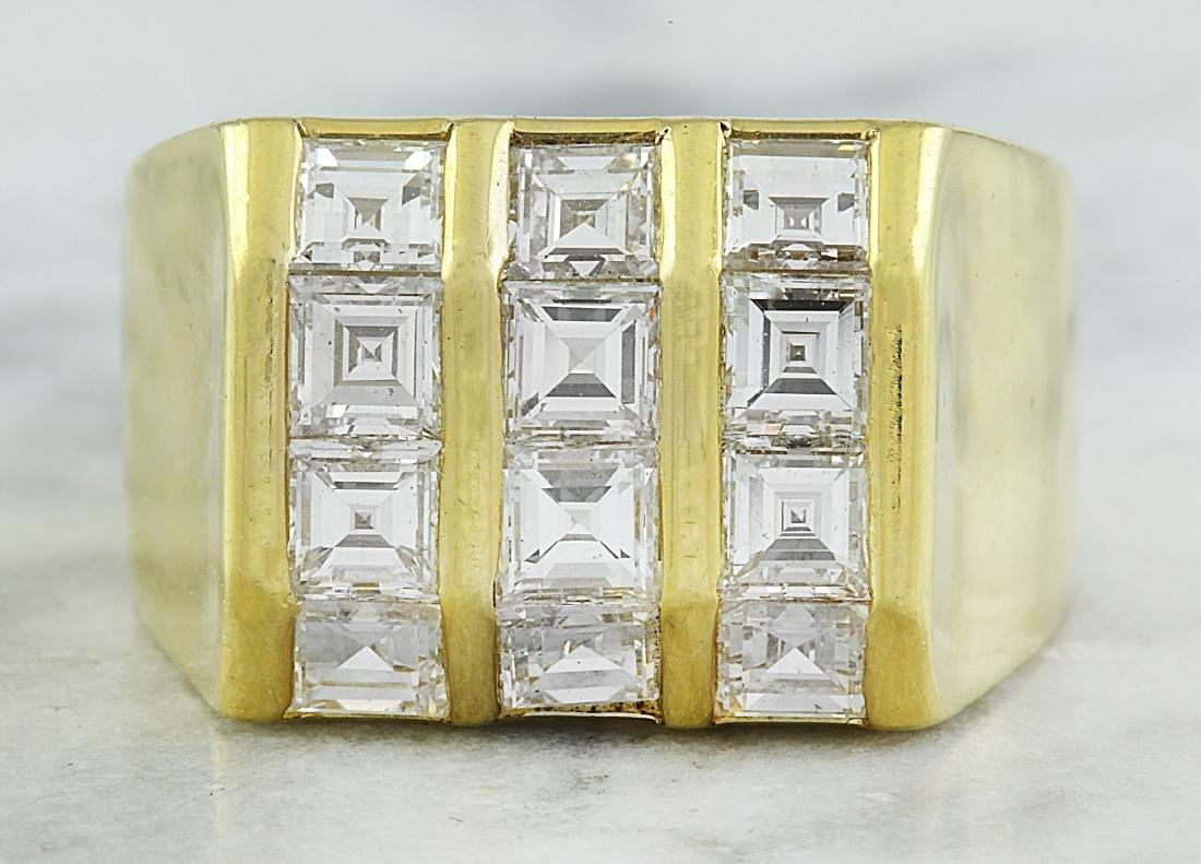 4.50 Carat Diamond  18K Yellow Gold Ring