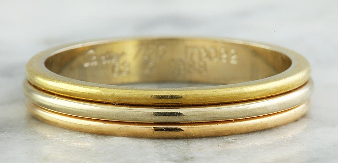 Authentic Cartier 18K Multi-Tone Gold Ring