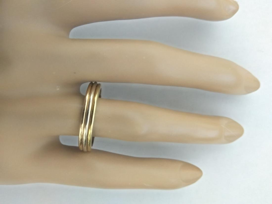 Authentic Cartier 18K Multi-Tone Gold Ring - 5