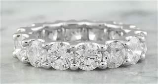 6.30 Carat Diamond 14K White Gold Ring