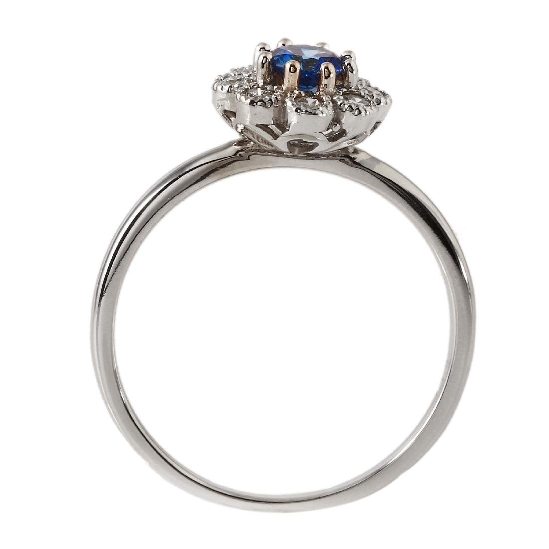 0.52 Carat Natural Sapphire 18K Solid White Gold - 2
