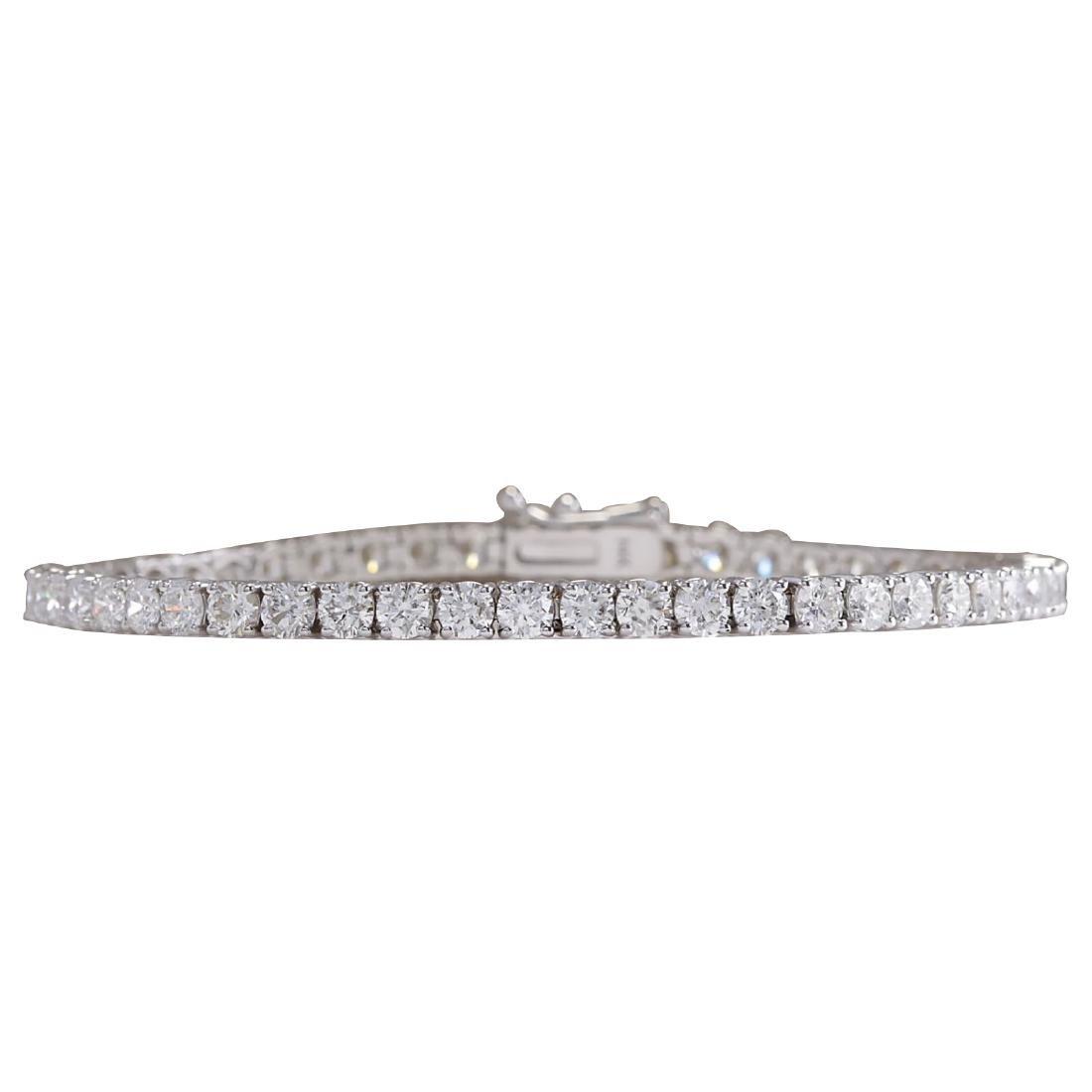6.66CTW Natural Diamond Bracelet In 18K Solid White