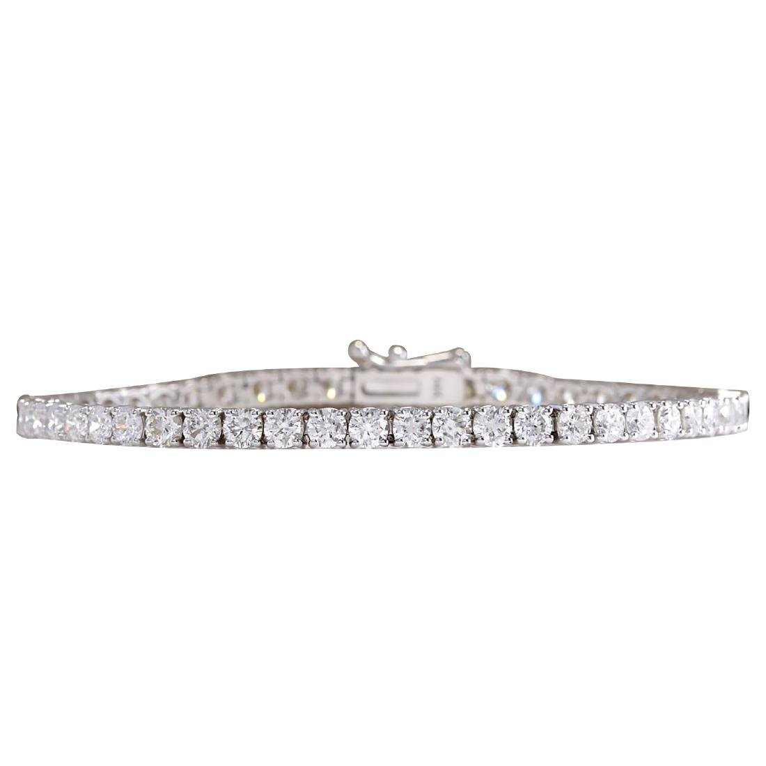6.85CTW Natural Diamond Bracelet In 18K Solid White