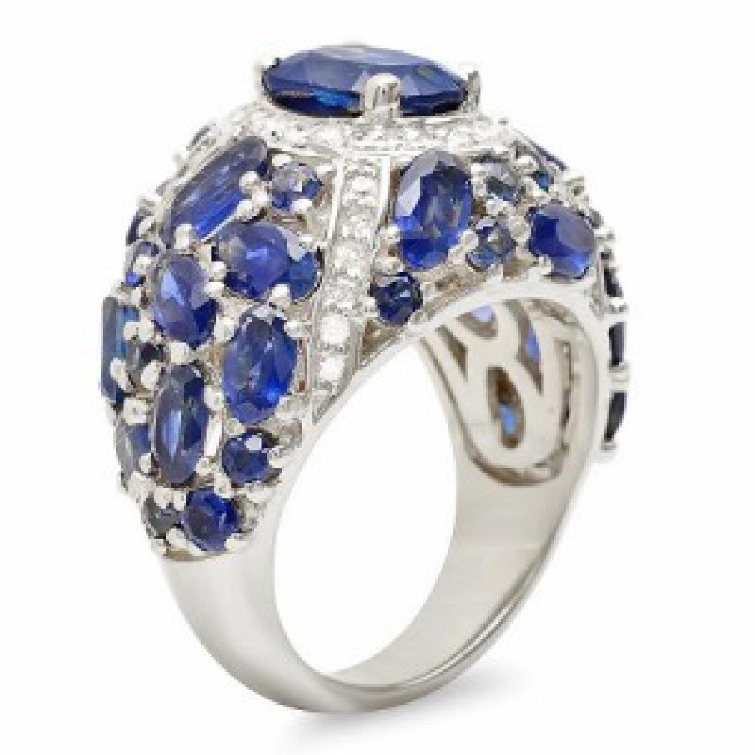 8.13 Carat Natural Sapphire 18K Solid White Gold - 2