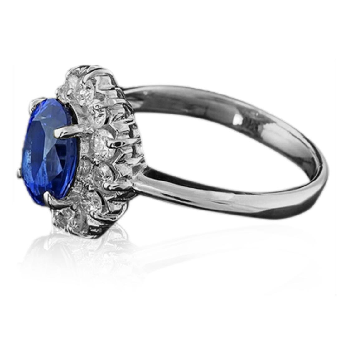 2.25 Carat Natural Sapphire 18K Solid White Gold - 2