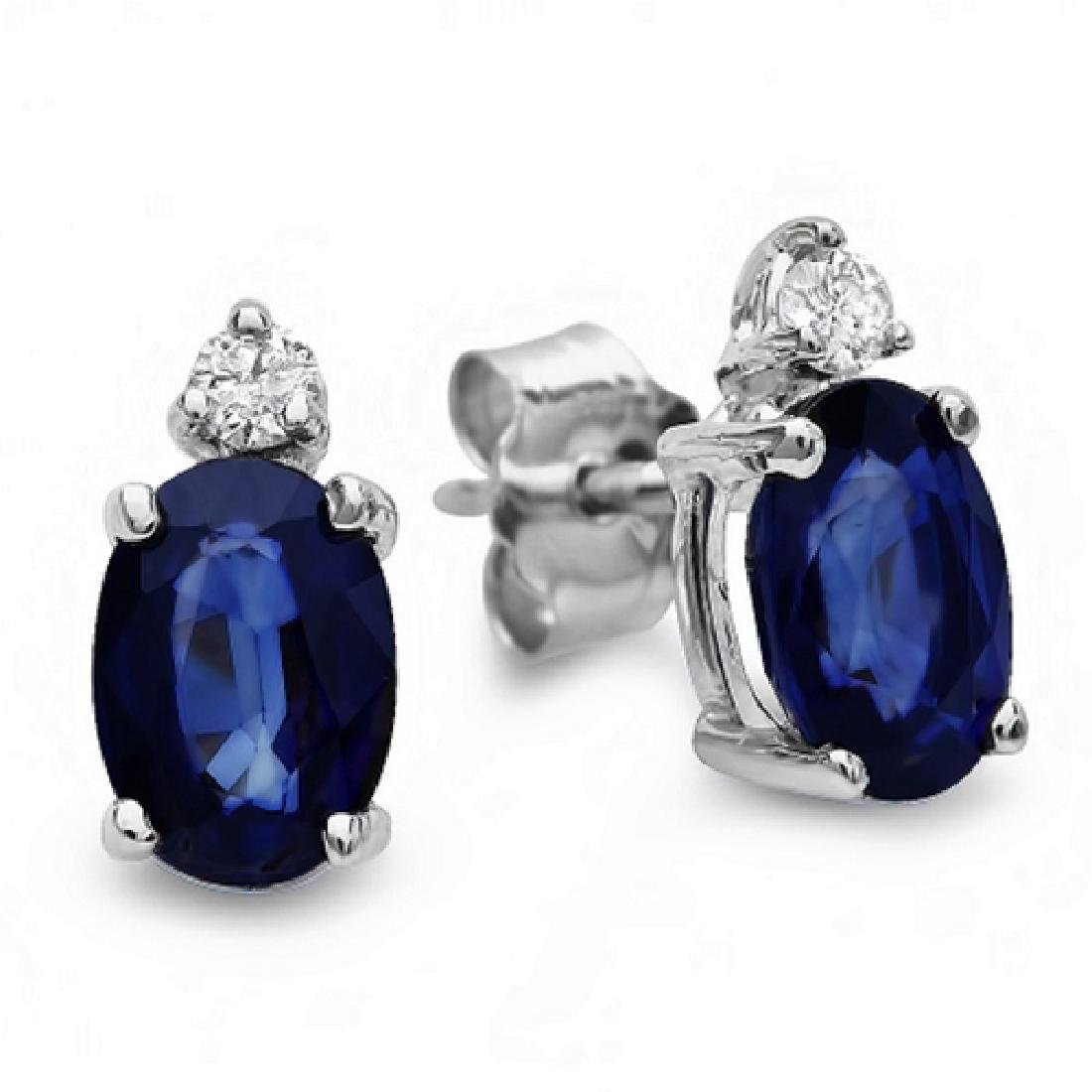 2.56 Carat Natural Sapphire 18K Solid White Gold