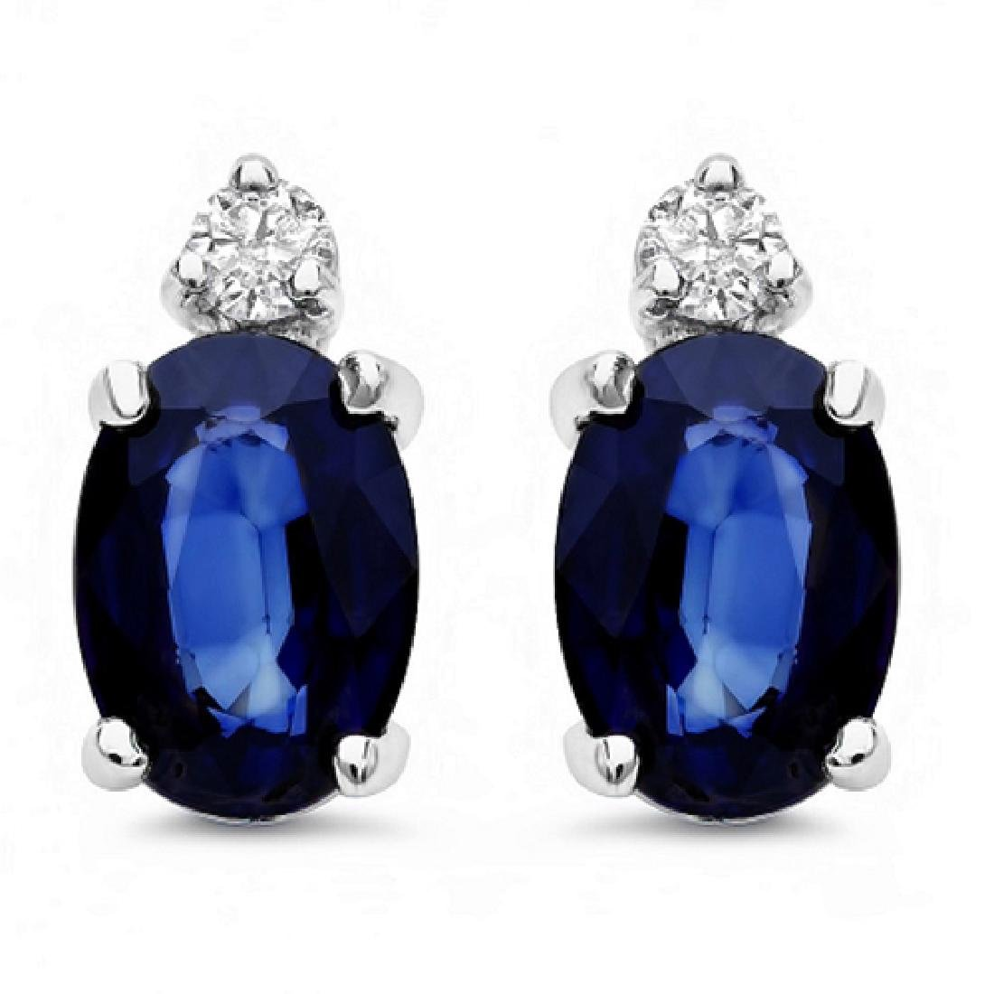 2.56 Carat Natural Sapphire 18K Solid White Gold - 2