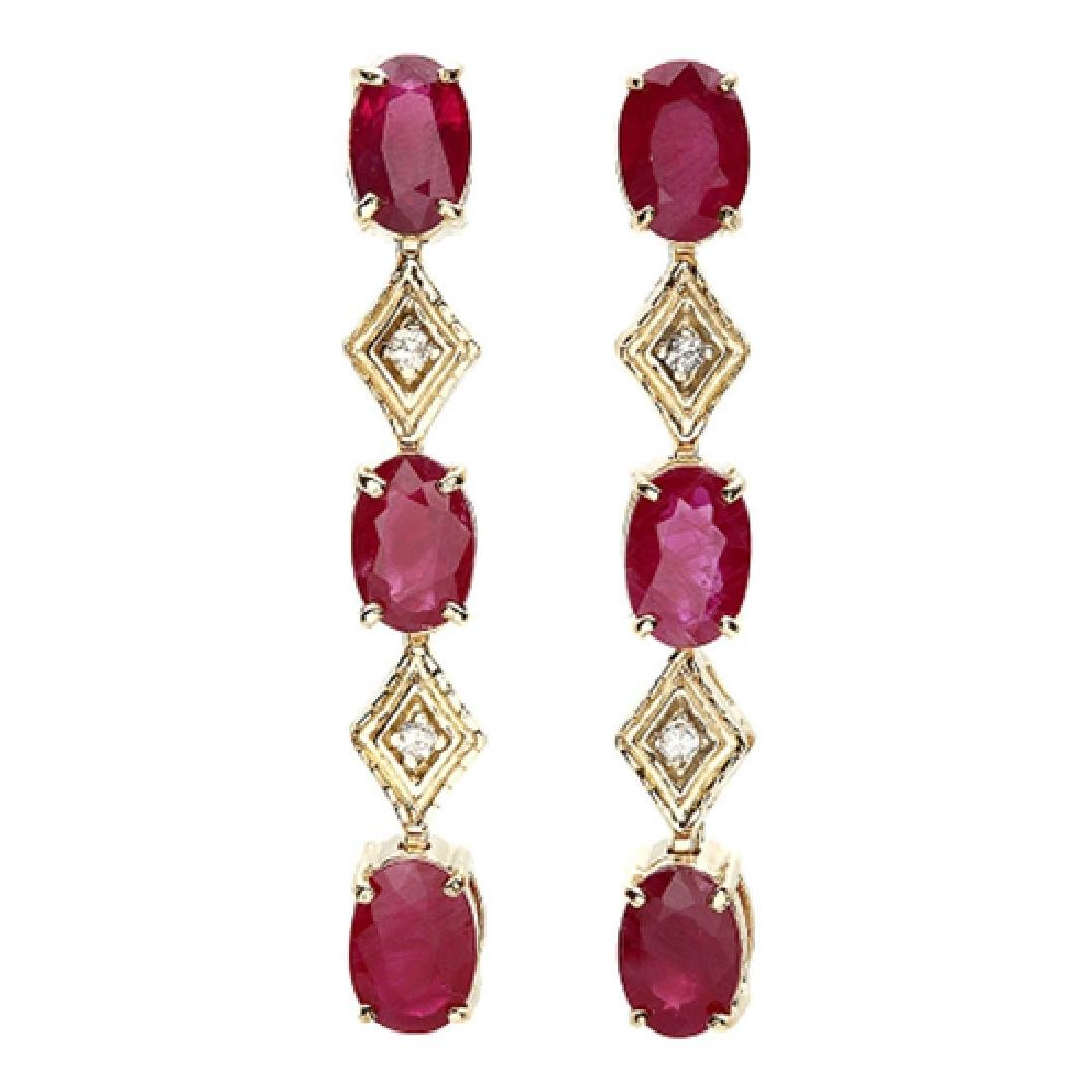 3.26 Carat Natural Ruby 18K Solid Yellow Gold Diamond