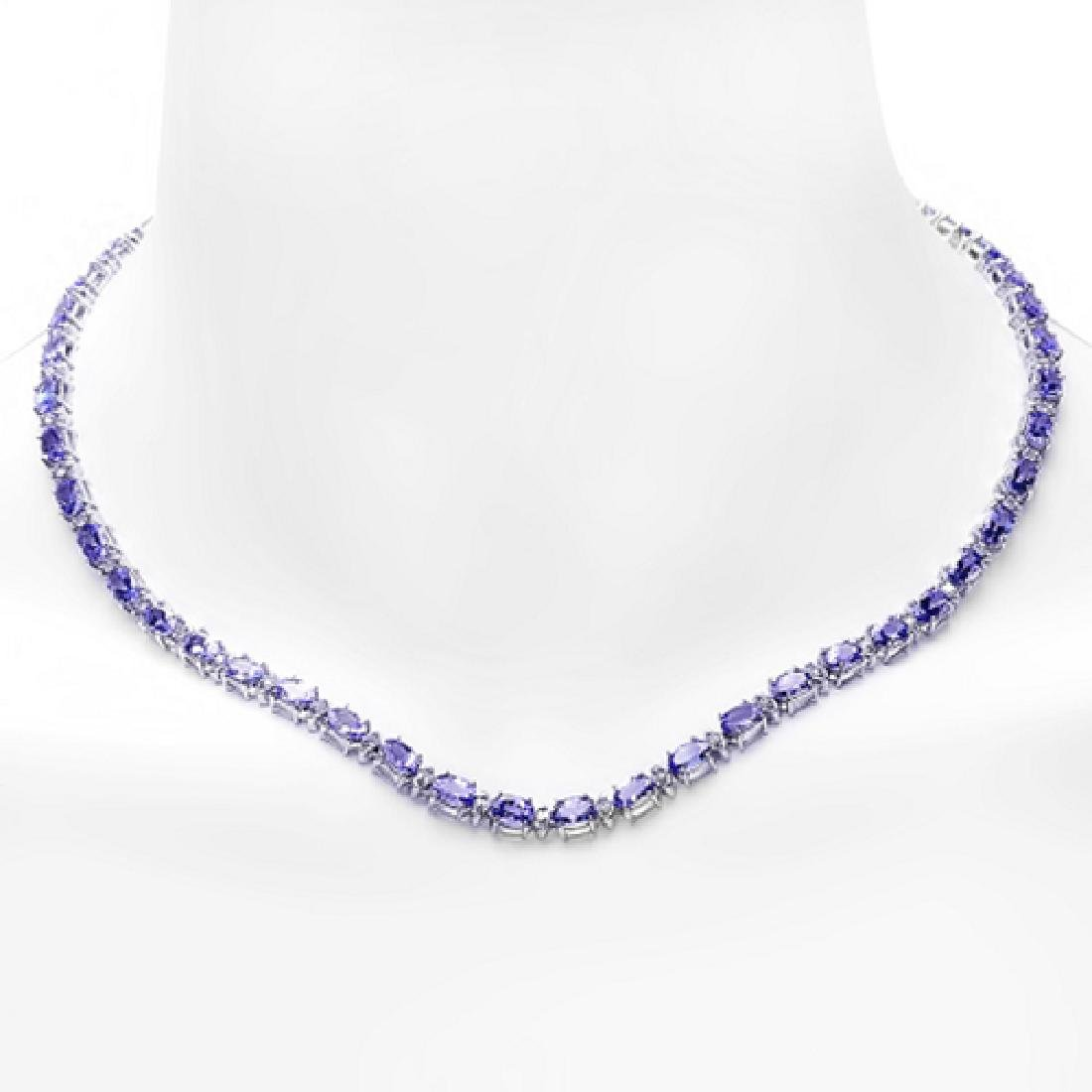 23.53 Carat Natural Tanzanite 18K Solid White Gold