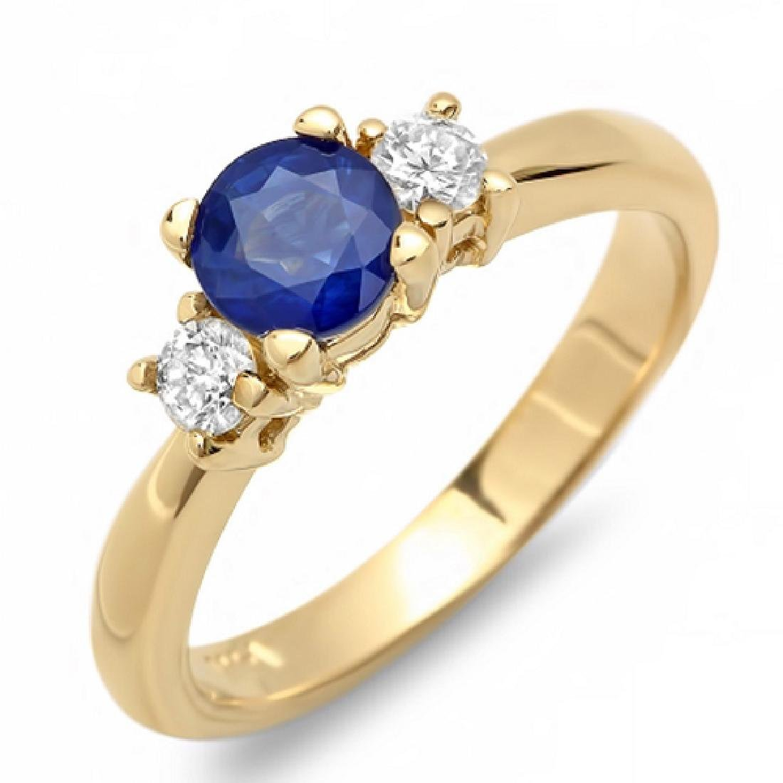 1.18 Carat Natural Sapphire 18K Solid Yellow Gold