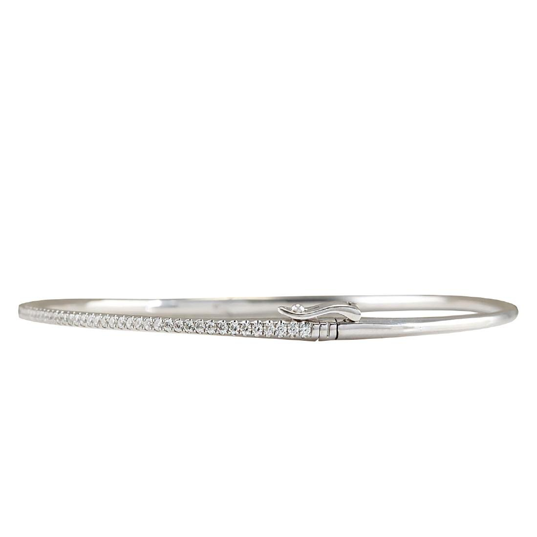 .80CTW Natural Diamond Bracelet In 18K White Gold