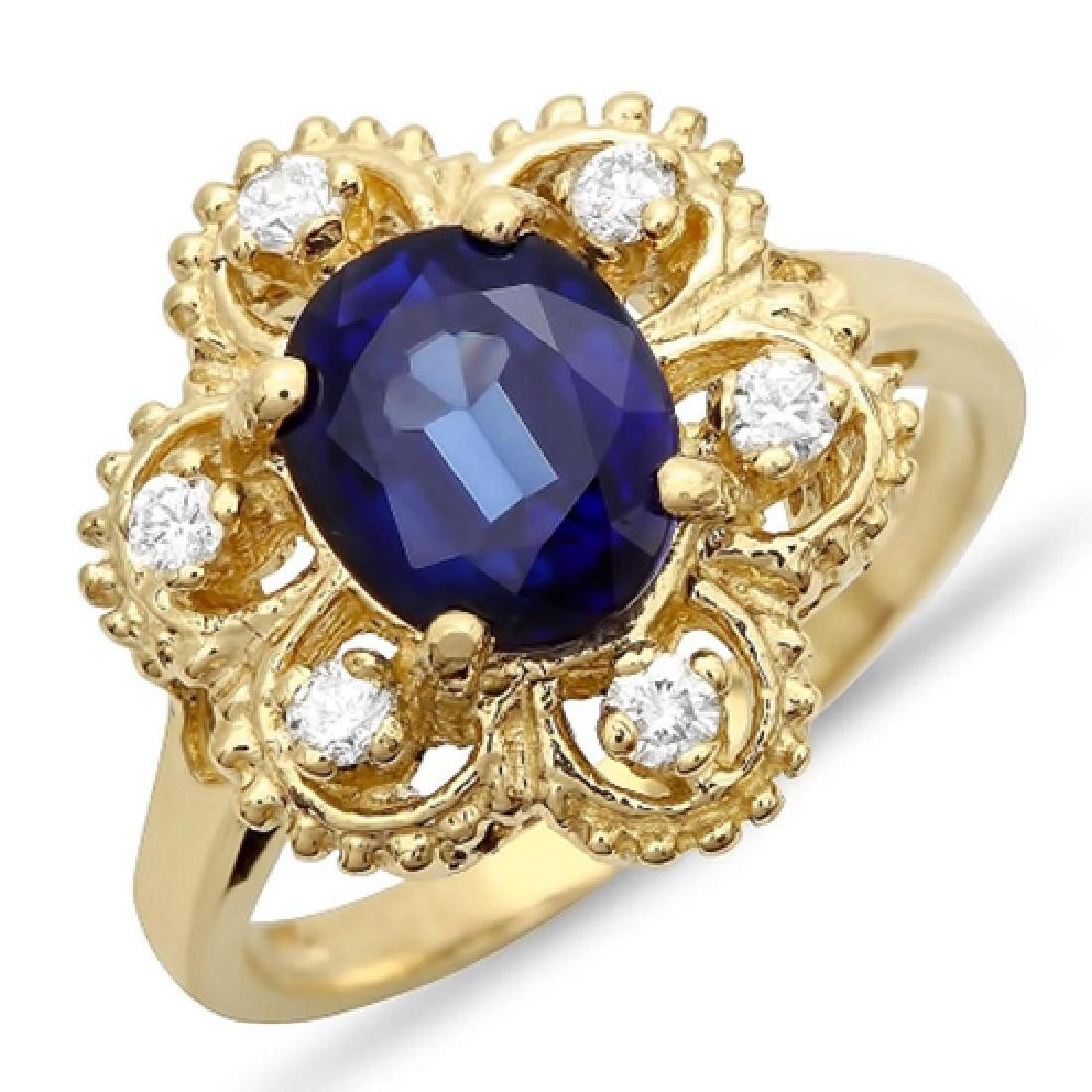 2.75 Carat Natural Sapphire 18K Solid Yellow Gold