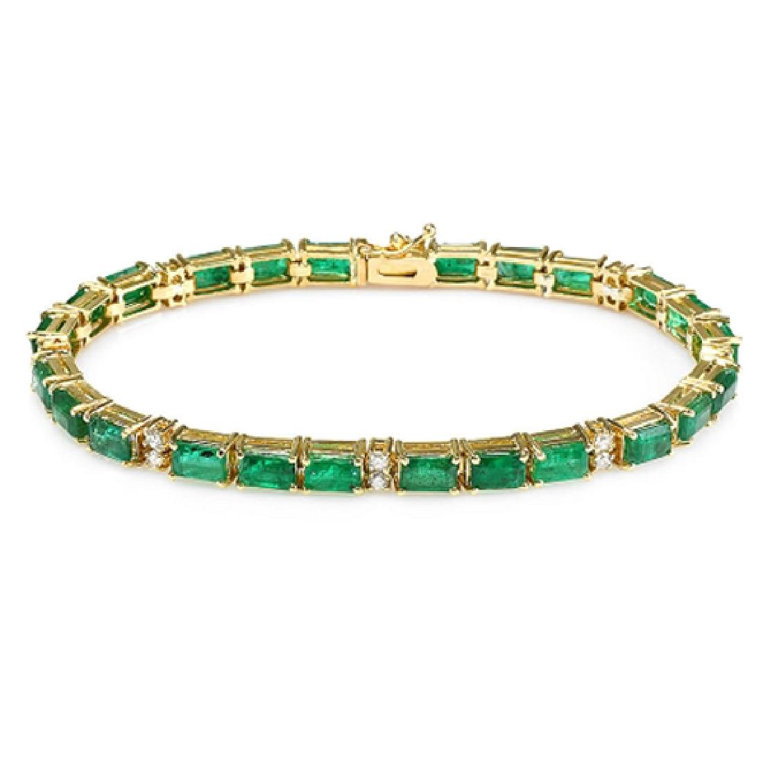 13.20 Carat Natural Emerald 18K Solid Yellow Gold