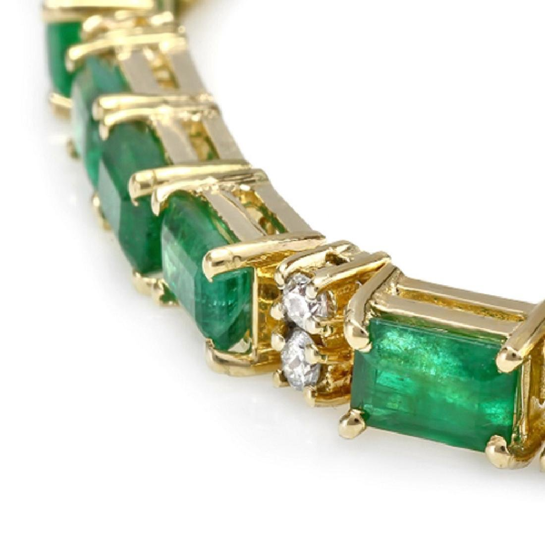 13.20 Carat Natural Emerald 18K Solid Yellow Gold - 2
