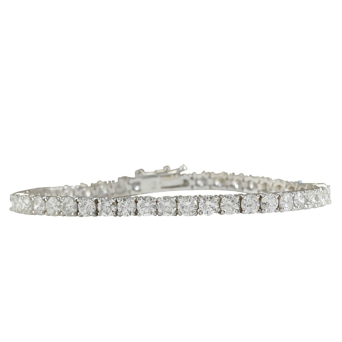4.52CTW Natural Diamond Bracelet In 18K Solid White