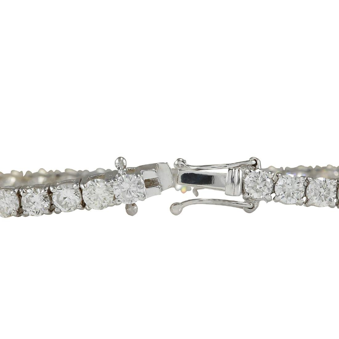 4.52CTW Natural Diamond Bracelet In 18K Solid White - 2