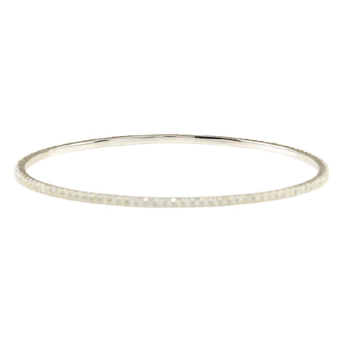 2.25 CTW Natural Diamond Bracelet In 18K Solid White - 2