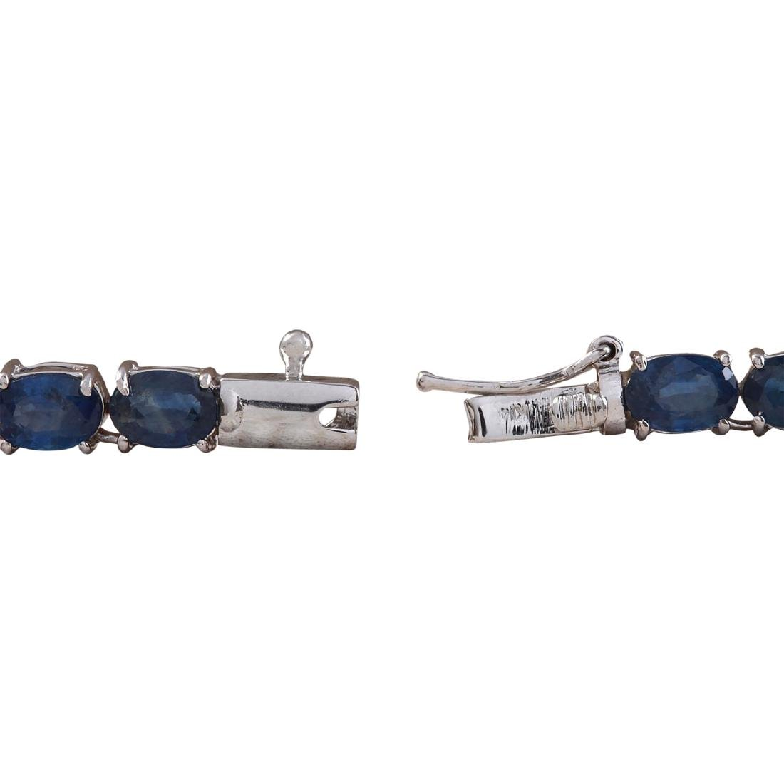 61.35 CTW Natural Blue Sapphire And Diamond Necklace In - 3
