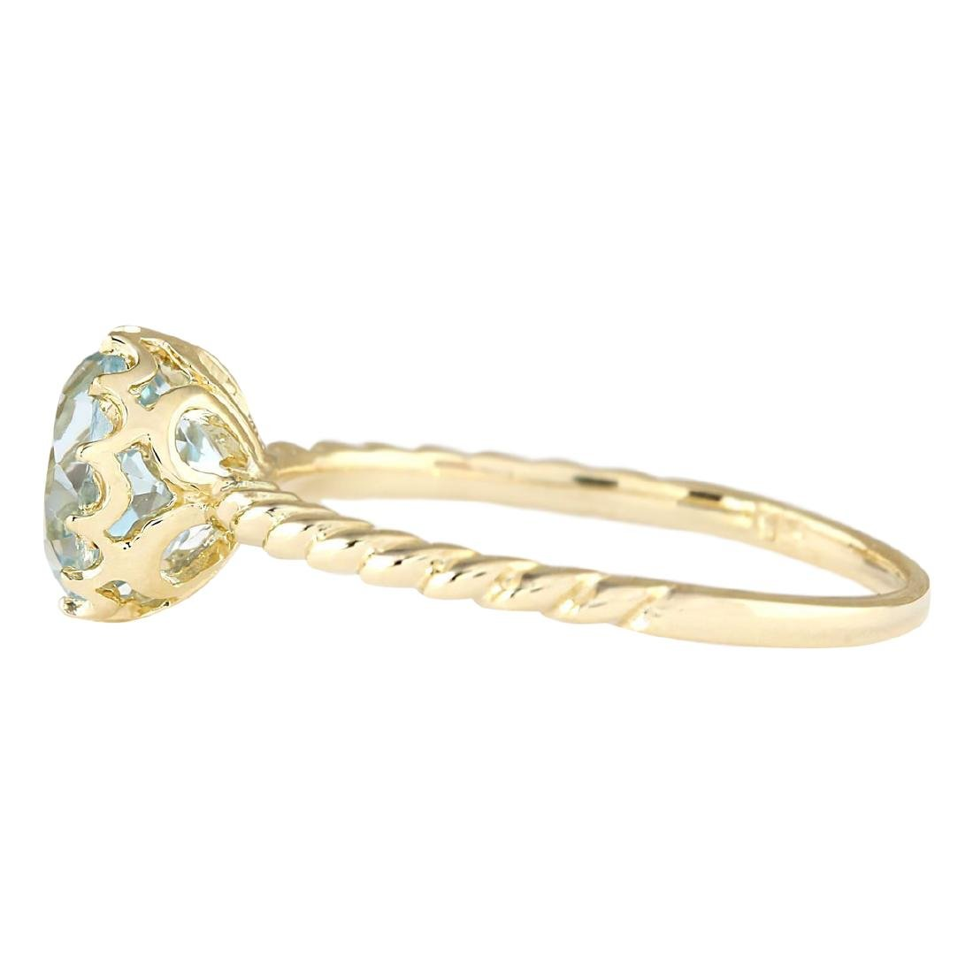 1.50 CTW Natural Aquamarine Ring In 18K Yellow Gold - 2