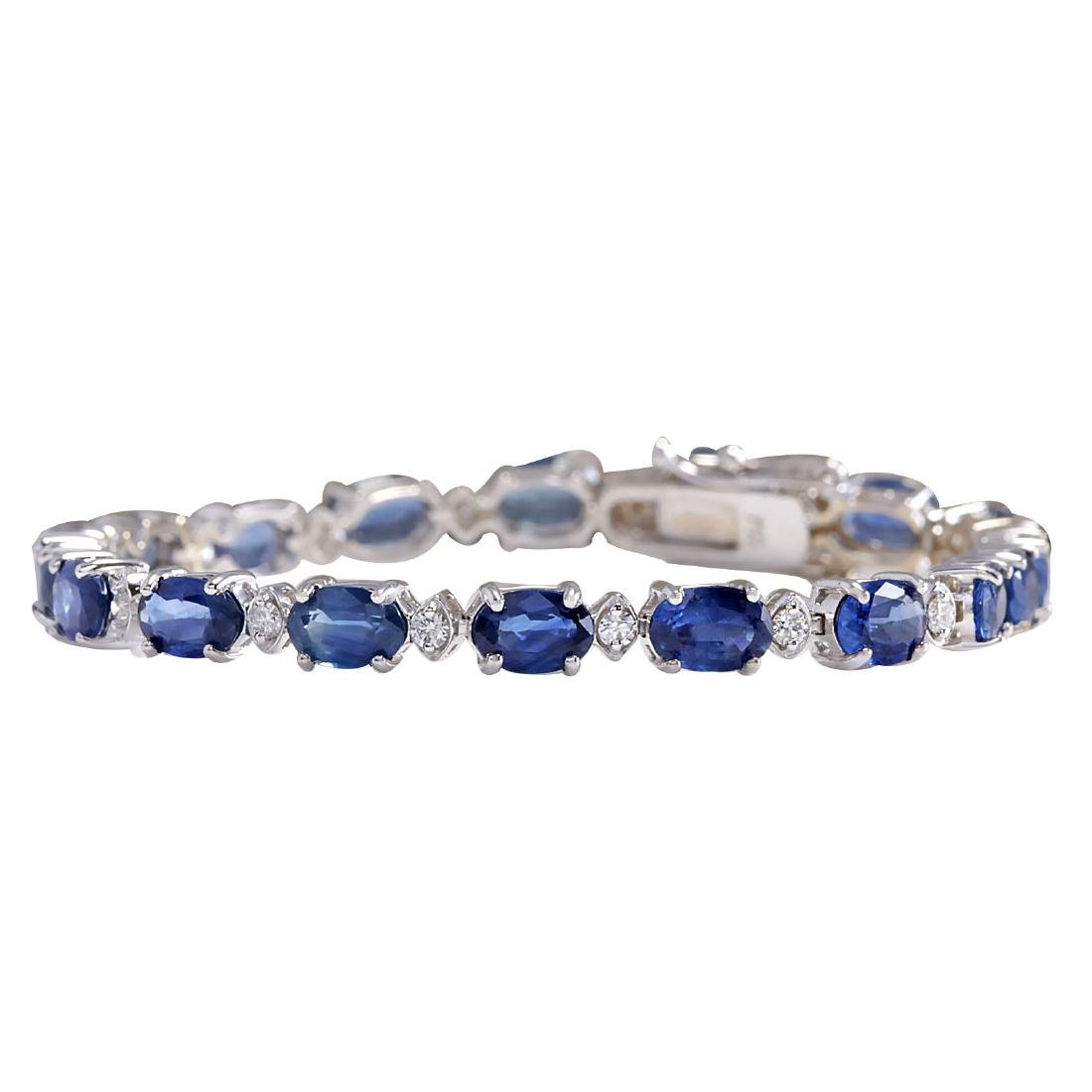 11.95CTW Natural Sapphire And Diamond Bracelet In 18K