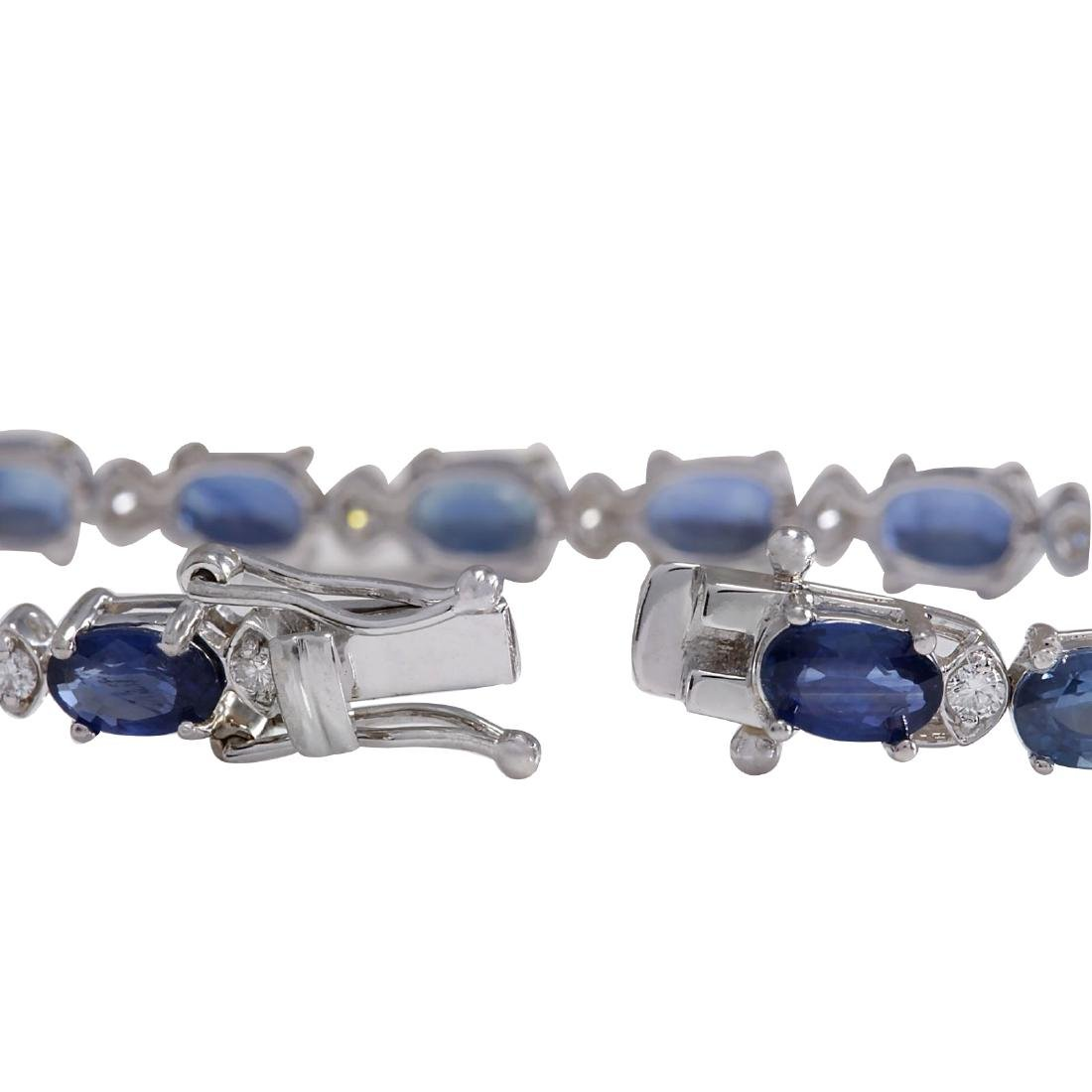 11.95CTW Natural Sapphire And Diamond Bracelet In 18K - 2
