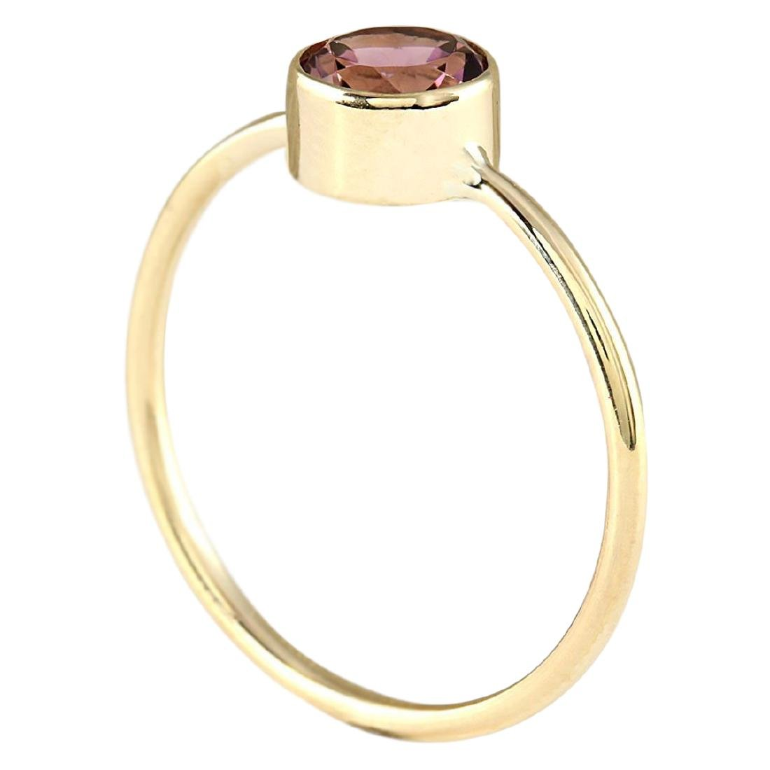 .80 CTW Natural Pink Tourmaline Ring In 18K Yellow Gold - 3