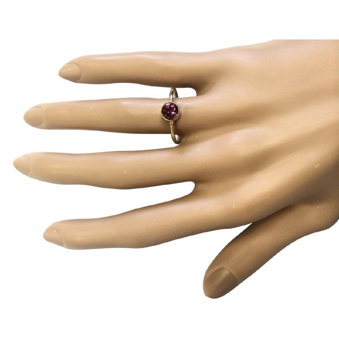 .80 CTW Natural Pink Tourmaline Ring In 18K Yellow Gold - 4