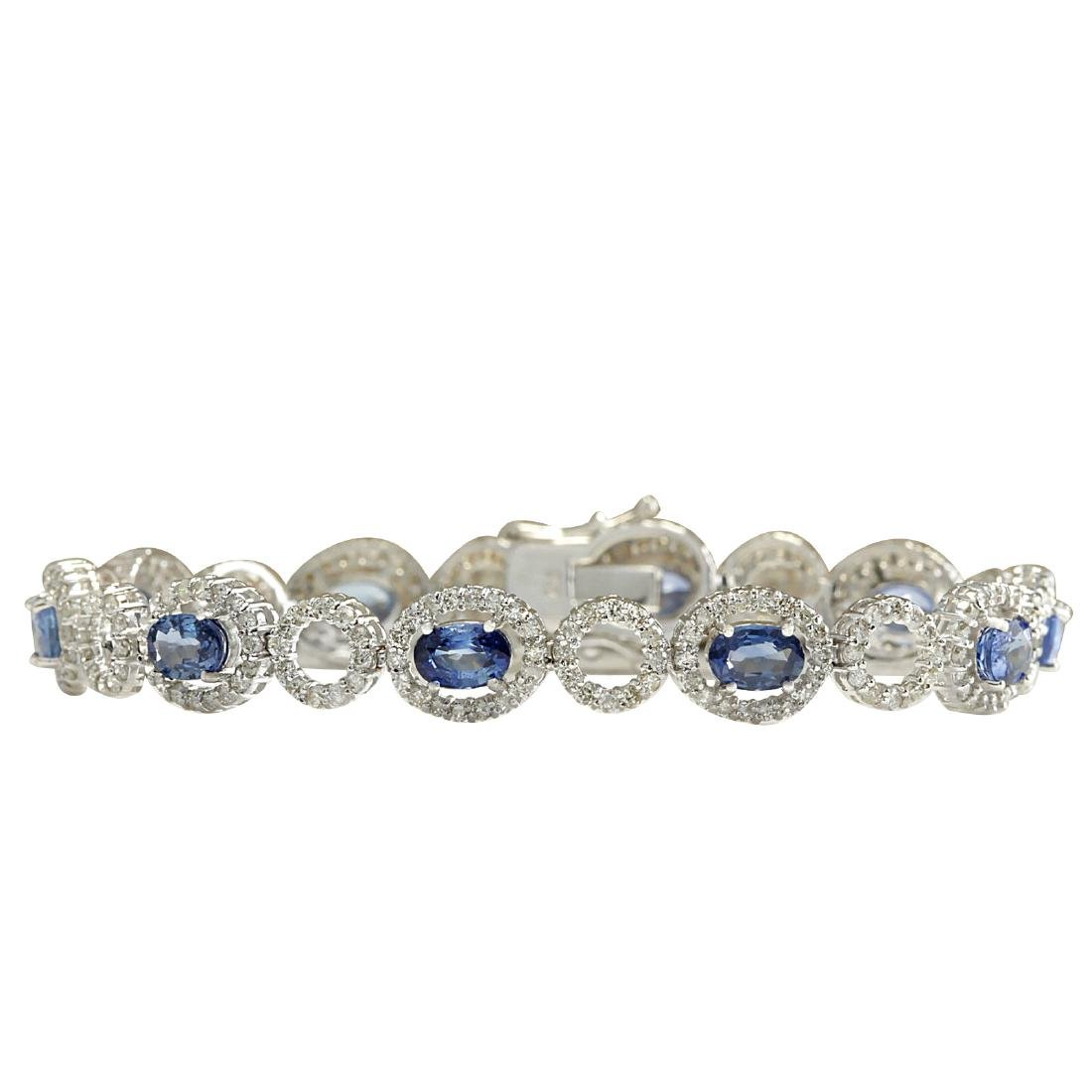 10.58CTW Natural Sapphire And Diamond Bracelet In 18K