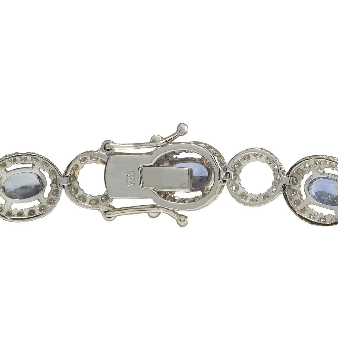 10.58CTW Natural Sapphire And Diamond Bracelet In 18K - 2