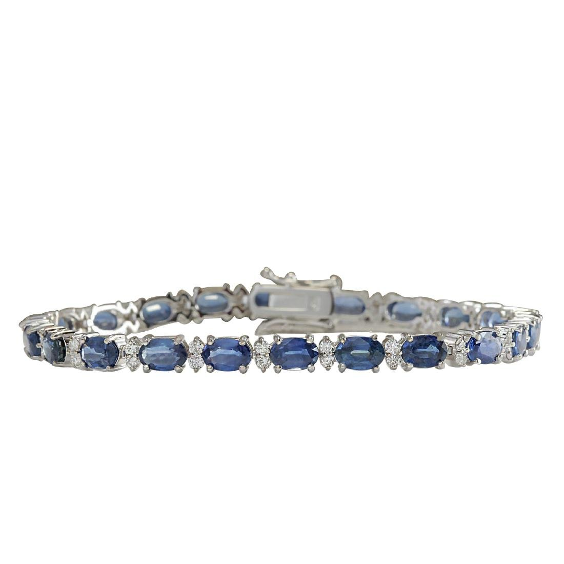 13.49CTW Natural Sapphire And Diamond Bracelet In 18K