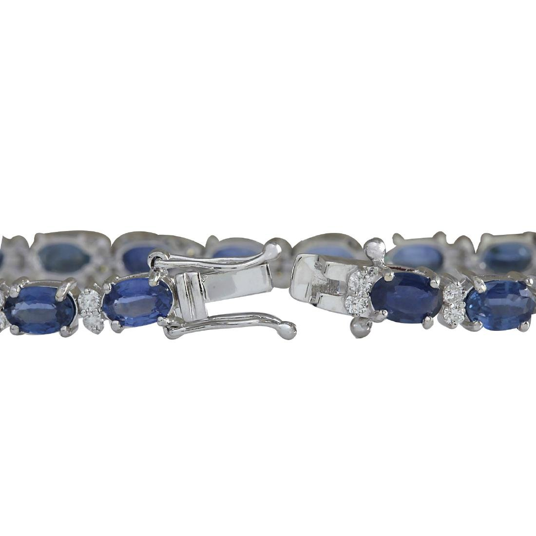 13.49CTW Natural Sapphire And Diamond Bracelet In 18K - 2
