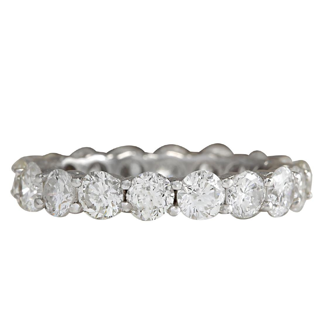 2.70Ct Natural Diamond Ring In 18K Solid White Gold
