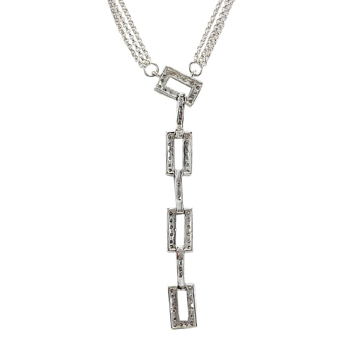 1.04 CTW Natural Diamond Necklace In 18K White Gold - 2
