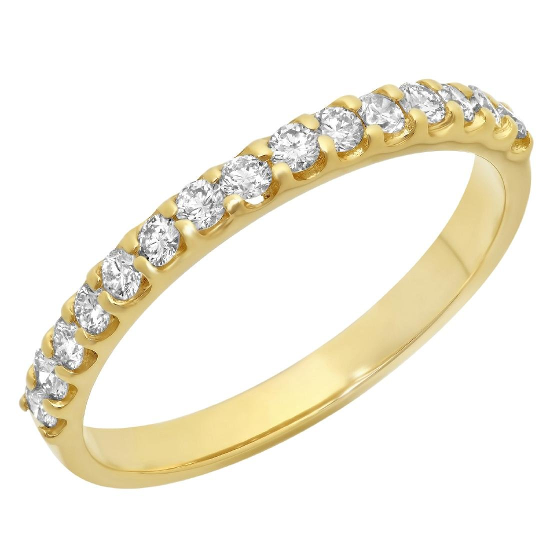 0.35 Carat Natural Diamond 18K Solid Yellow Gold Ring