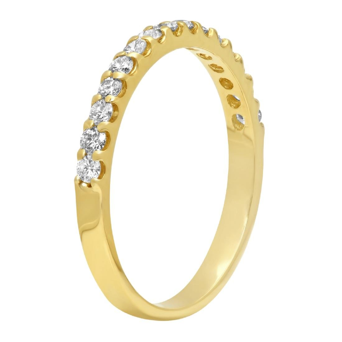 0.35 Carat Natural Diamond 18K Solid Yellow Gold Ring - 2